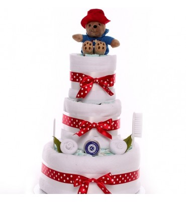 Paddington Bear Neutral Nappy Cake.