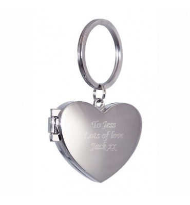 Personalised Heart Photoframe Keyring