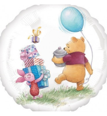 Pooh and Piglet Non Message Helium Balloon.