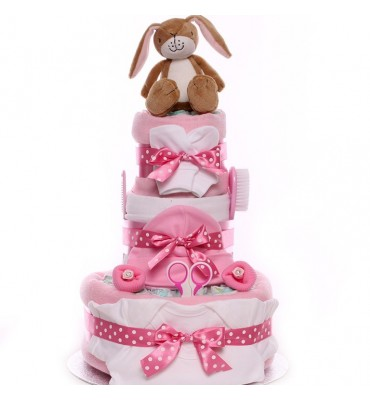 Nut Brown Hare Nappy Cake.