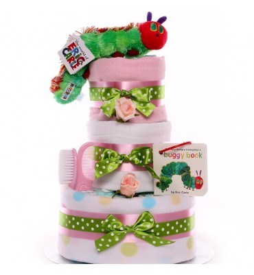 The Very Hungry Caterpillar Nappy Cake Girl.