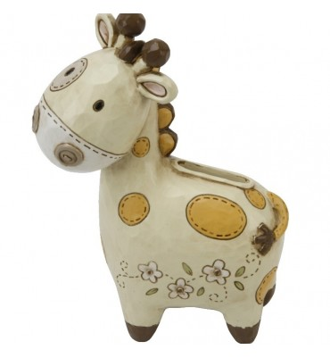 Juliana Baby Noah's Ark Resin Money Box - Giraffe