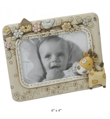 "Juliana Baby Noah's Ark Photo Frame 6"" x 4""."