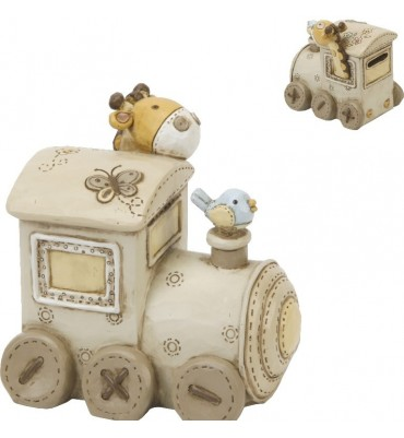 Juliana Baby Noah's Ark Resin Money Box Train.