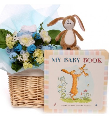 Baby Bouquet Basket Guess How Much I Love You.
