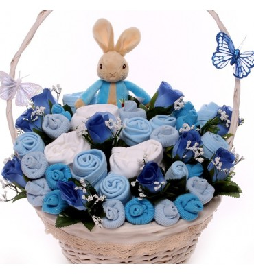 Luxury Large Peter Rabbit Baby Clothing Arrangement.