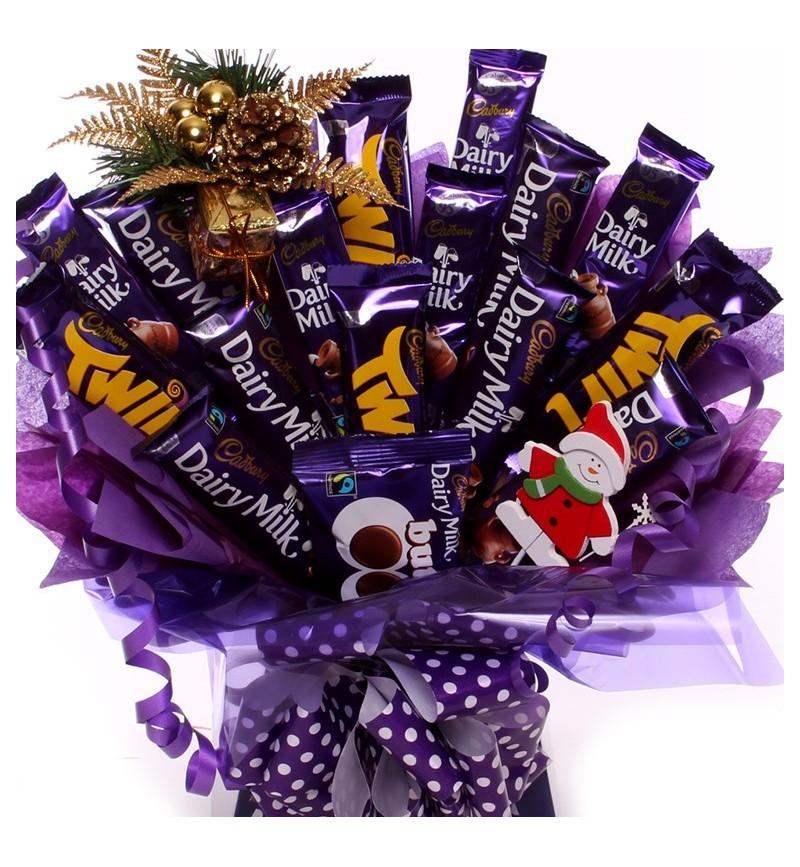 Cadbury Christmas Chocolate Bouquet.