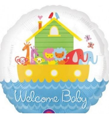 Welcome Baby Helium Balloon delivery UK.