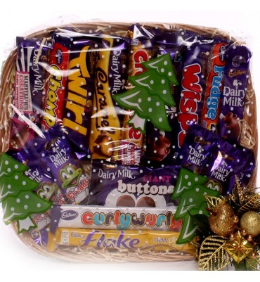 Christmas Cadbury Gift Basket.
