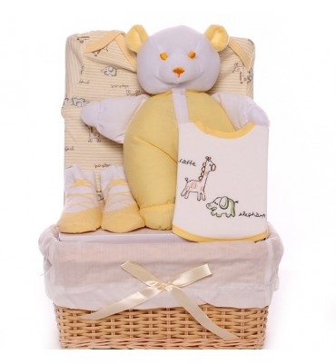Lemon Coloured Baby Basket.