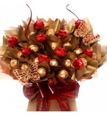 Luxury Ferrero Rocher Bouquet with Milk Chocolate Stars.