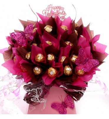 Valentine's Ferrero Bouquet with Hearts