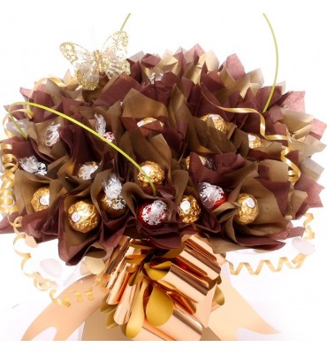 Gold Lindor and Ferrero Rocher Bouquet