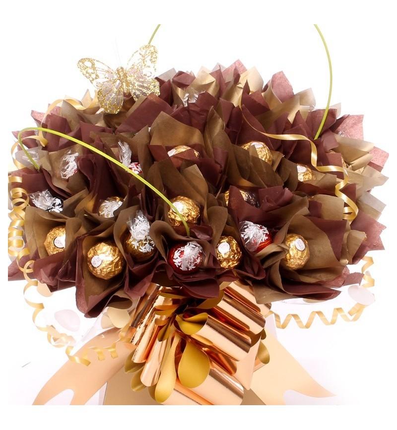 Gold Lindor and Ferrero Rocher Bouquet
