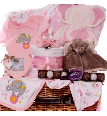 Circus Elephant Baby Girl Hamper