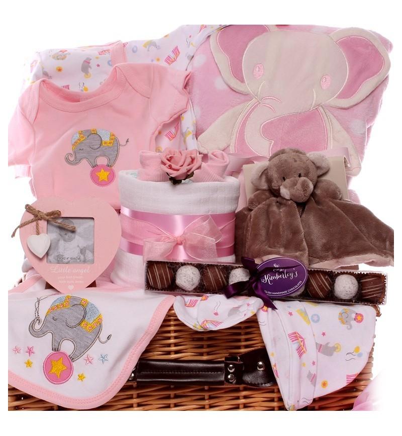 Circus Elephant Baby Girl Hamper