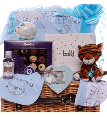 Little Tiger Baby Boy Hamper.