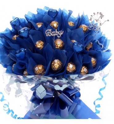 Baby Boy Chocolate Bouquet.