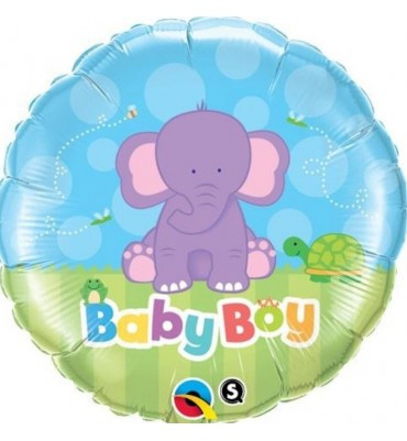 Cute Baby Boy Helium Balloon in A Box.