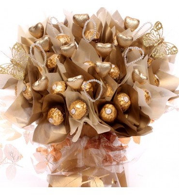 Luxury Ferrero Rocher Wedding Bouquet.