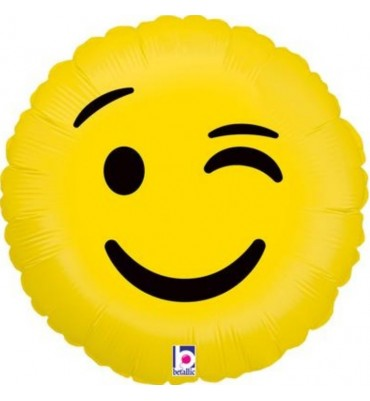 Emojo Wink Helium Balloon 18 inches.