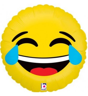 Emoji Laughing Out Load Helium Balloon 18 Inch.
