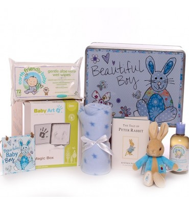 Gorgeous Boy Baby Gift Tin.