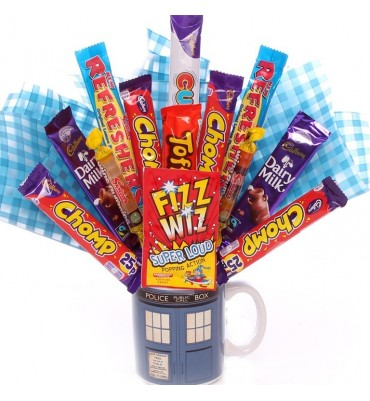 Chocolate Bouquet In A Dr Who Mug.