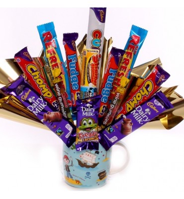 Chocolate Bouquet In A Pirate Mug.