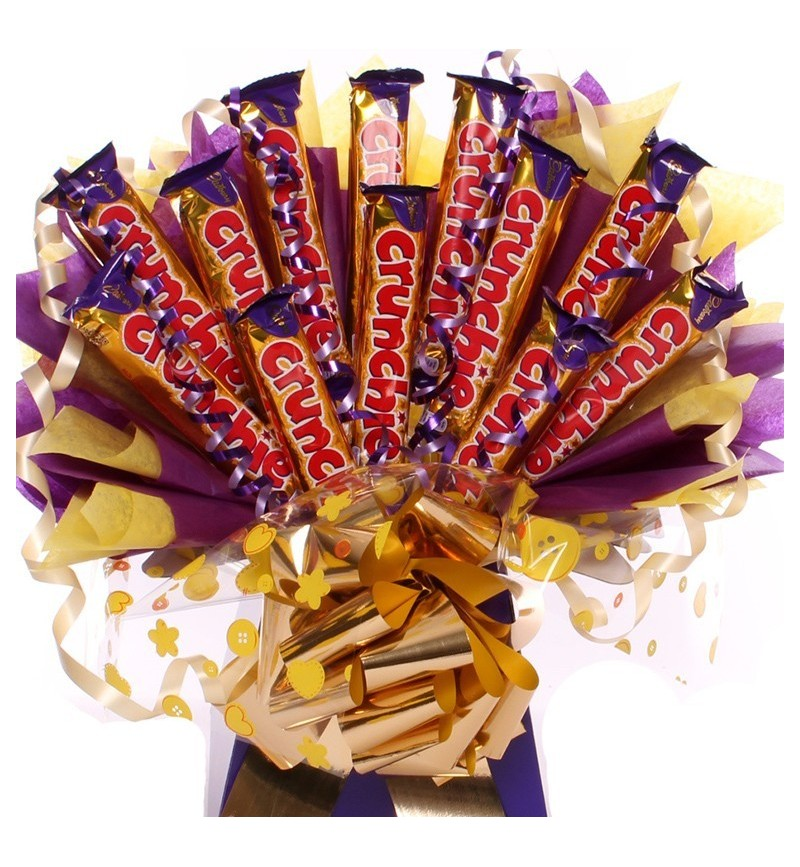 Crunchie Chocolate Bar Bouquet Cadbury Chocolate Bouquet