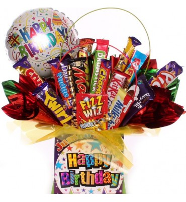 Big Happy Birthday Chocolate Bouquet.