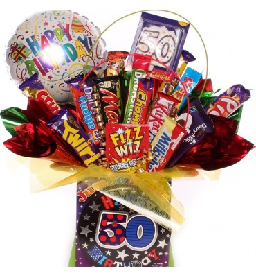 50th Birthday Chocolate Bouquet For Him.