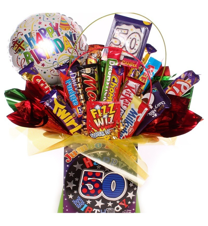 50th Birthday Chocolate Bouquet For Him