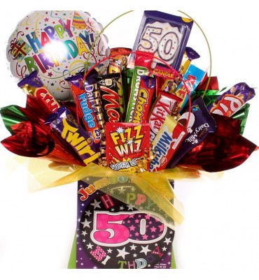 50th Birthday Chocolate Bouquet For Her.