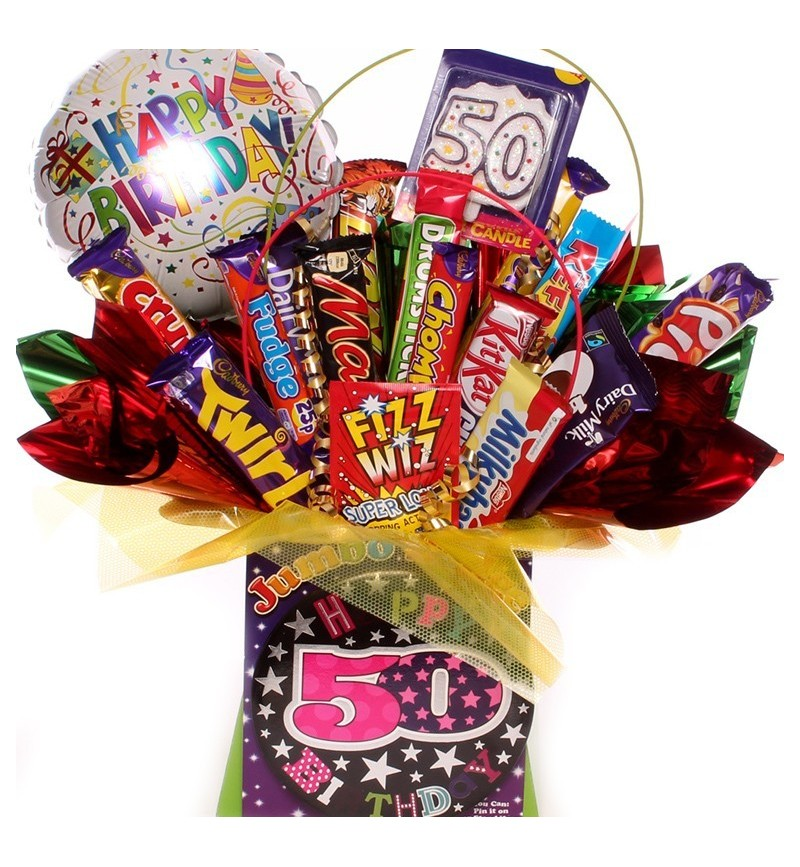50th Birthday Chocolate Bouquet For Her