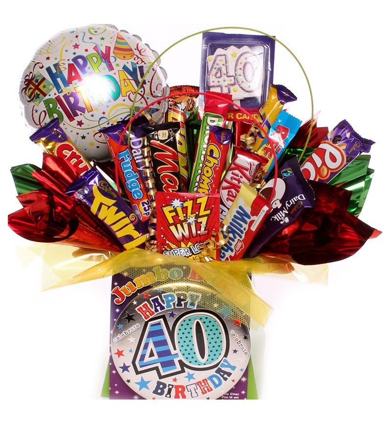 40th Birthday Chocolate Bouquet For Him