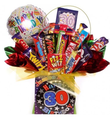 30th Birthday Chocolate Bouquet For Him.