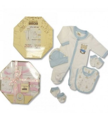 Nursery Time Baby Gift Set 6 Piece Classic Bear.