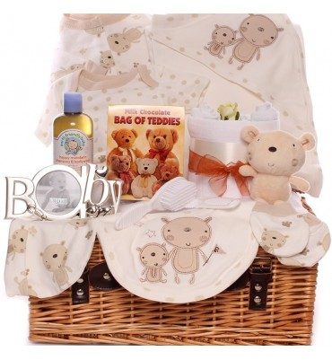 My Little Teddy Bear Neutral Baby Hamper.
