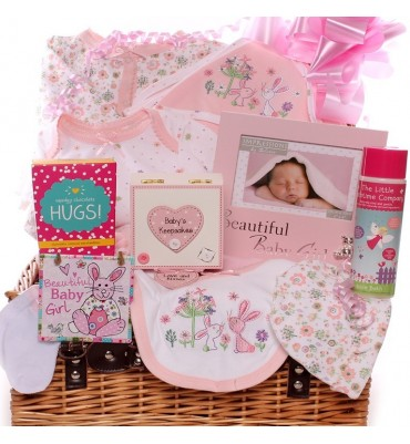 Woodland Friends Baby Girl Hamper.