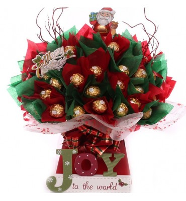 Joy To The World Ferrero Rocher Chocolate Bouquet.