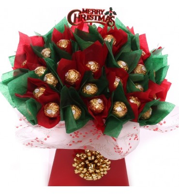 Merry Christmas Chocolate Bouquet.