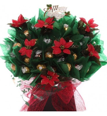 Poinsettia Chocolate Arrangement.
