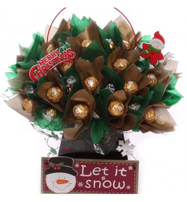 Christmas Chocolate Flowers Gift Bouquet.