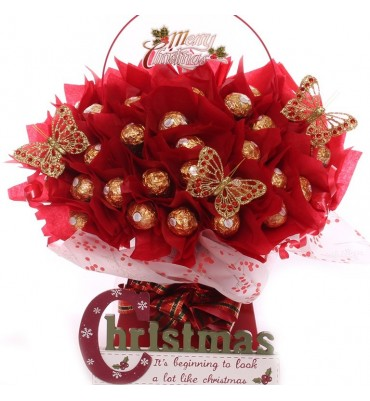 Merry Berry Christmas Chocolate Bouquet.