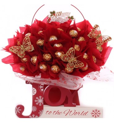Big Joy To The World Chocolate Ferrero Rocher Gift Bouquet.