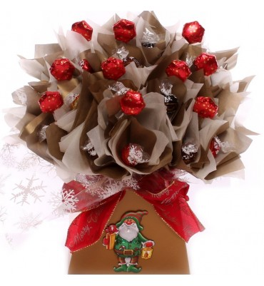 Luxury Lindt Lindor Christmas Chocolate Bouquet Gift.