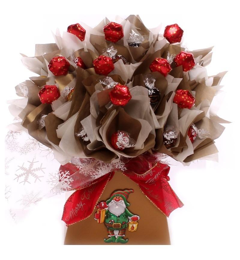 Luxury Lindt Lindor Christmas Chocolate Bouquet