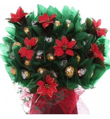 Poinsettia Plant Chocolate Bouquet