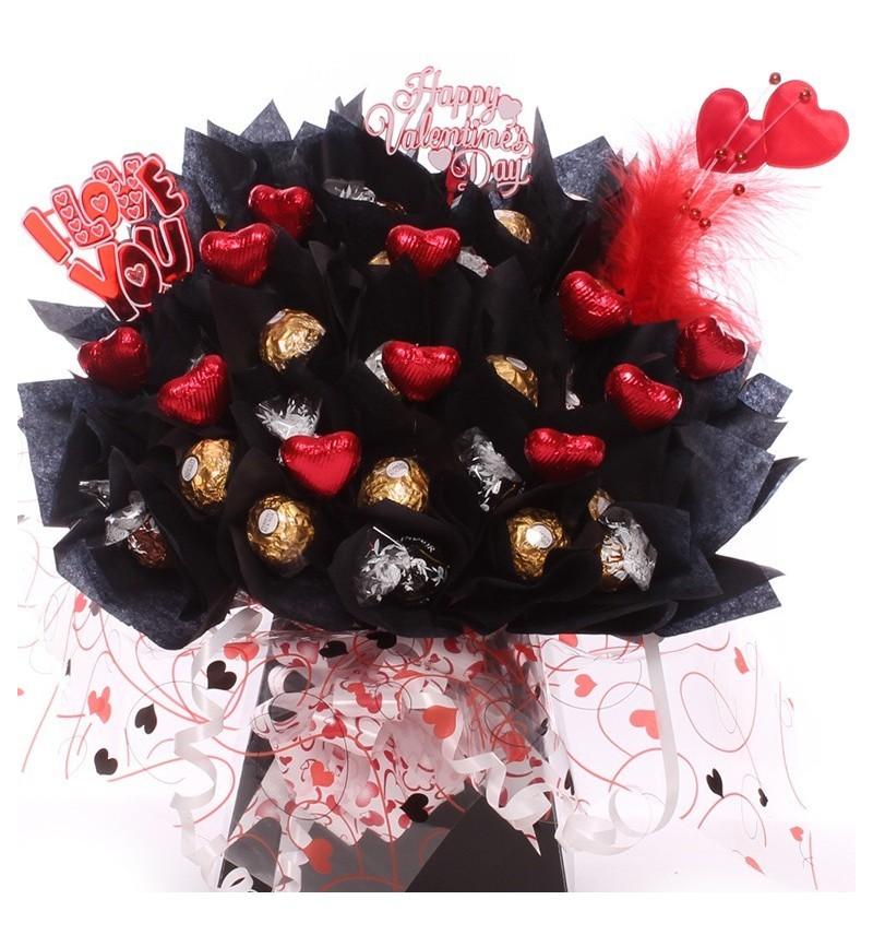 Lindor And Ferrero Rocher Chocolate Bouquet Valentine